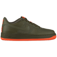 ... Nike Air Force 1 Low - Boys' Grade School - Olive Green / Orange