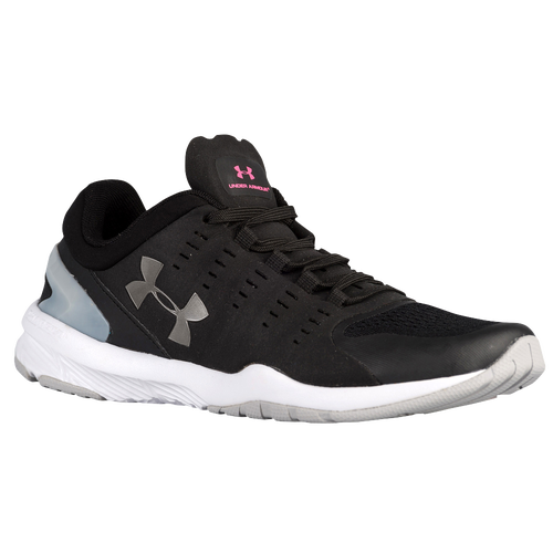 Under Armour Charged Stunner - Women's - Training - Shoes - Black/Aluminum/Metallic  Pewter