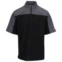Mizuno Comp 1/4 Zip S/S Batting Jacket - Men's - Black / Grey