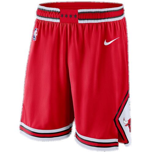 Nike NBA Swingman Shorts - Men's - Chicago Bulls - Red / White