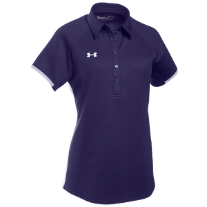 Under Armour Team Rival Polo - Women's - Purple/White