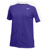 Nike Team Stock Vapor Select Full Button Jersey - Women's - Purple