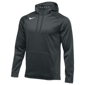 Nike Team Therma Hoodie - Men's - Anthracite/White