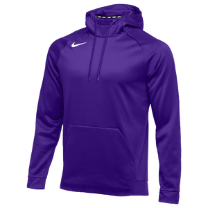 Nike Team Therma Hoodie - Men's - Purple/White