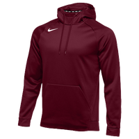 Nike Team Therma Hoodie - Men's - Maroon / Maroon