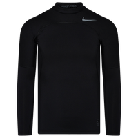 Nike Pro Hyperwarm Compression Mock - Men's - Black