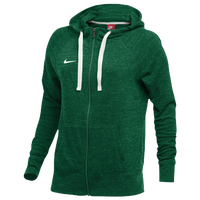 Nike W NK GYM VNTG HOODIE FZ - Women's - Dark Green / Off-White