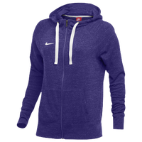 Nike W NK GYM VNTG HOODIE FZ - Women's - Purple / Off-White