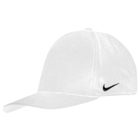 Nike Team Dri-Fit Swoosh Flex Cap - Men's - All White / White
