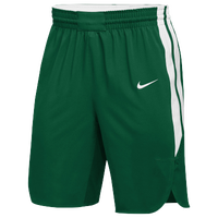 Nike Team Hyperelite Shorts - Men's - Dark Green / White