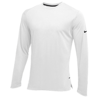 Nike Team Hyperelite L/S Shooter Top - Men's - All White / White