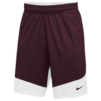 Nike Team Practice Shorts - Men's - Maroon / White