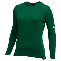 Nike Team Hyperelite L/S Shooter Top - Women's - Dark Green / Dark Green
