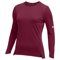 Nike Team Hyperelite L/S Shooter Top - Women's - Cardinal / White