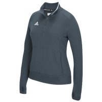 adidas Team Climalite 1/4 Zip - Women's - Grey / Grey