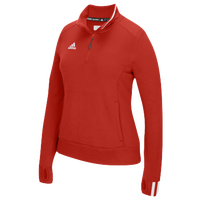 adidas Team Climalite 1/4 Zip - Women's - Red / White