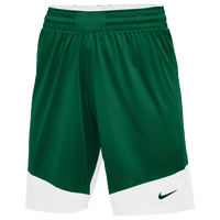 Nike Team Practice Shorts - Women's - Dark Green / White