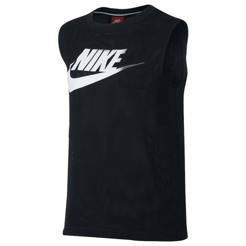 Nike NSW Mesh Knit Tank - Women's Casual - Black/White 68255010