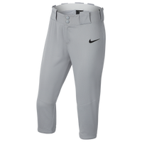 Nike Core Softball 3/4 Pants - Girls' Grade School - Grey