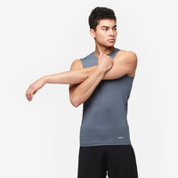 Eastbay EVAPOR Core Sleeveless Compression Top - Men's - Grey / Grey