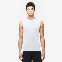 Eastbay EVAPOR Core Sleeveless Compression Top - Men's - All White / White
