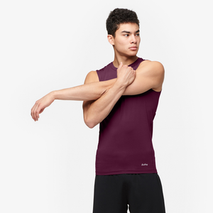 Eastbay EVAPOR Core Sleeveless Compression Top - Men's - Dark Maroon