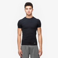 Eastbay EVAPOR Core Compression S/S Football T-Shirt - Men's - All Black / Black