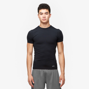 Eastbay EVAPOR Core Compression S/S Crew Top - Men's - Black