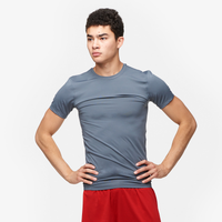 Eastbay EVAPOR Core Compression S/S Crew Top - Men's - Grey / Grey