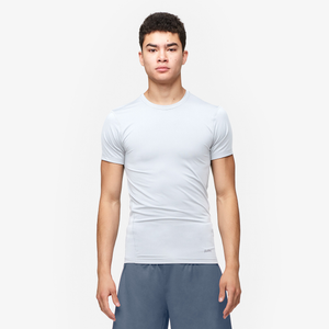 Eastbay EVAPOR Core Compression S/S Crew Top - Men's - White