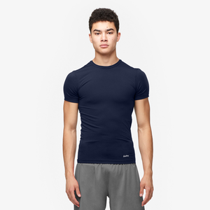 Eastbay EVAPOR Core Compression S/S Crew Top - Men's - Navy