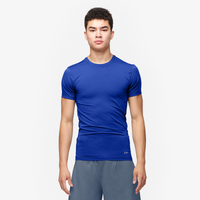 Eastbay EVAPOR Core Compression S/S Football T-Shirt - Men's - Blue / Blue