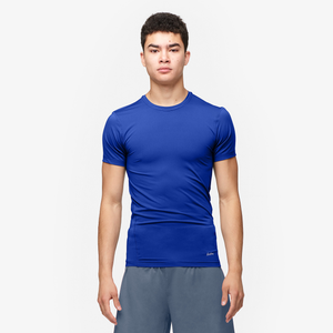Eastbay EVAPOR Core Compression S/S Crew Top - Men's - Royal