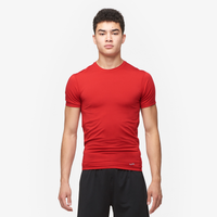 Eastbay EVAPOR Core Compression S/S Crew Top - Men's - Red / Red