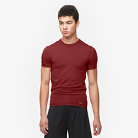 Eastbay EVAPOR Core Compression S/S Crew Top - Men's - Cardinal / Cardinal