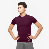 Eastbay EVAPOR Core Compression S/S Crew Top - Men's - Maroon / Maroon
