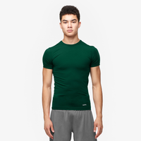 Eastbay EVAPOR Core Compression S/S Crew Top - Men's - Dark Green / Dark Green