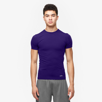 Eastbay EVAPOR Core Compression S/S Crew Top - Men's - Purple / Purple