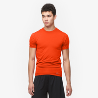 Eastbay EVAPOR Core Compression S/S Football T-Shirt - Men's - Orange / Orange