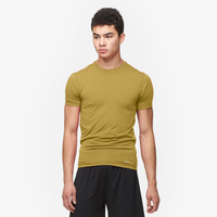 Eastbay EVAPOR Core Compression S/S Crew Top - Men's - Tan / Tan