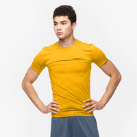 Eastbay EVAPOR Core Compression S/S Football T-Shirt - Men's - Gold / Gold