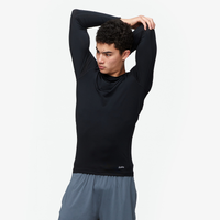 Eastbay EVAPOR Core Long Sleeve Compression Crew - Men's - All Black / Black