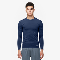 Eastbay EVAPOR Core Long Sleeve Compression Crew - Men's - Navy / Navy