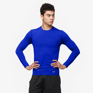 Eastbay EVAPOR Core Long Sleeve Compression Crew - Men's - Royal