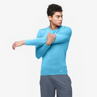 Eastbay EVAPOR Core Long Sleeve Compression Crew - Men's - Light Blue / Light Blue