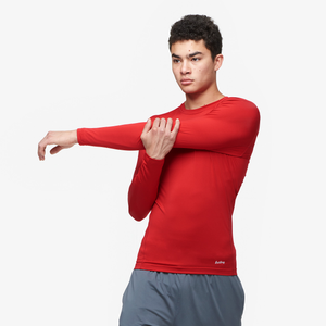 Eastbay EVAPOR Core Long Sleeve Compression Crew - Men's - Scarlet
