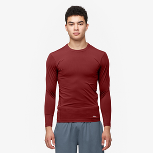 Eastbay EVAPOR Core Long Sleeve Compression Crew - Men's - Cardinal