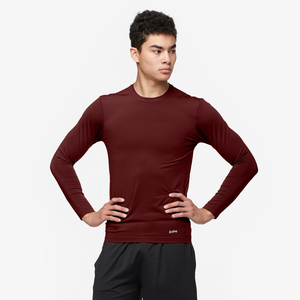 Eastbay EVAPOR Core Long Sleeve Compression Crew - Men's - Dark Maroon