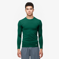 Eastbay EVAPOR Core Long Sleeve Compression Crew - Men's - Dark Green / Dark Green