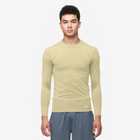 Eastbay EVAPOR Core Long Sleeve Compression Crew - Men's - Tan / Tan